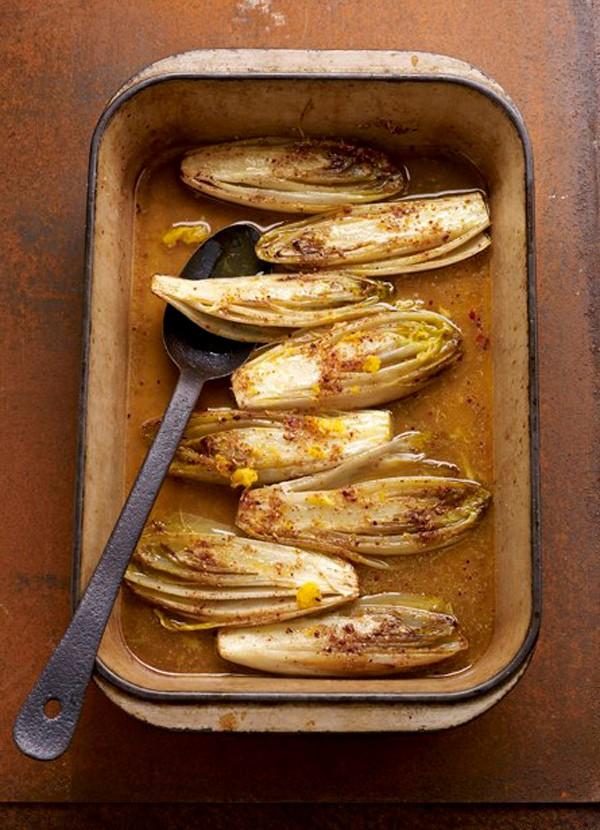 Spiced Glazed Chicory Side Dish Recipe