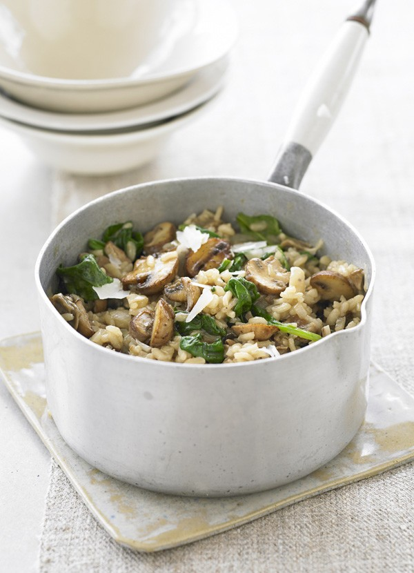 Porcini Mushroom Risotto Recipe with Spinach