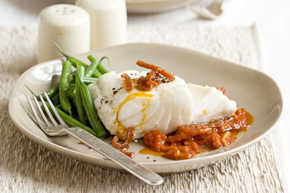 Cod with Tomato Recipe and Chorizo Sauce