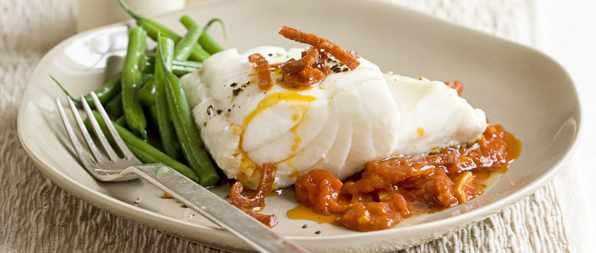 Cod with Tomato Recipe and Chorizo Sauce