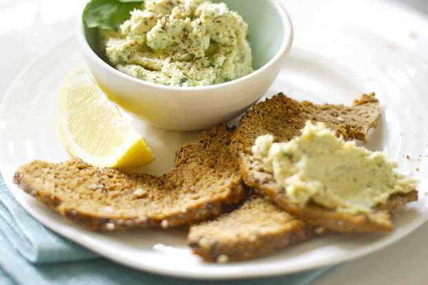 Smoked Salmon Pâté Recipe with Watercress and Bagel Crisps