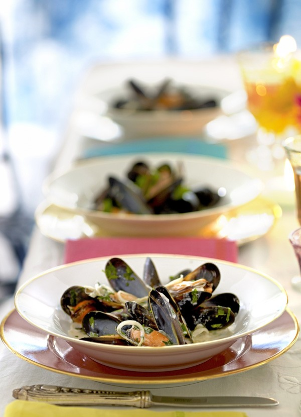 Mussels with Cider Cream Recipe