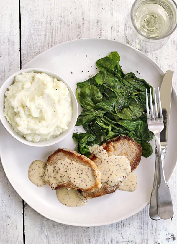 Pork Escalope Recipe with Cauliflower Mash