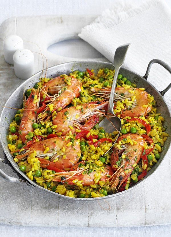 Easy Paella Recipe with Prawns