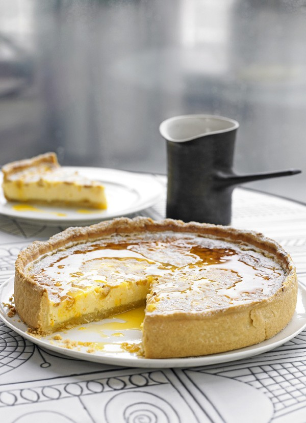 Pine Nut and Ricotta Tart with Spiced Syrup Recipe