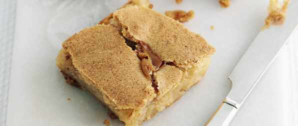Caramel Banana Blondies Recipe
