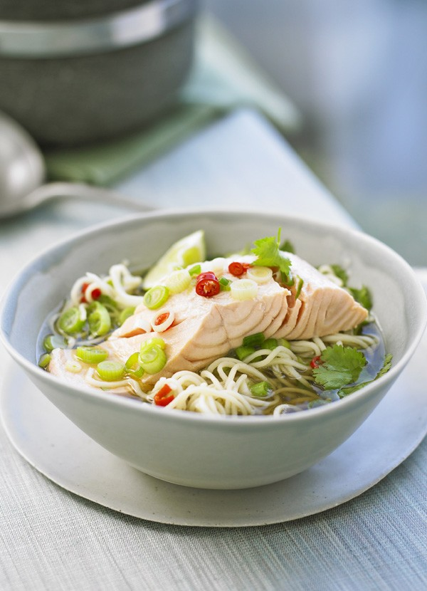 Chilli Salmon Noodle Soup