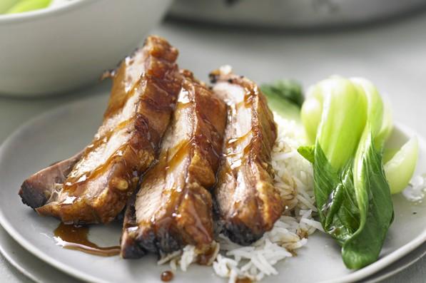 18 best pork belly recipes olive magazine olive magazine braised pork belly recipe with greens forumfinder Choice Image