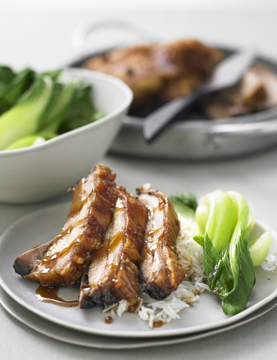 Braised Pork Belly Recipe with Greens