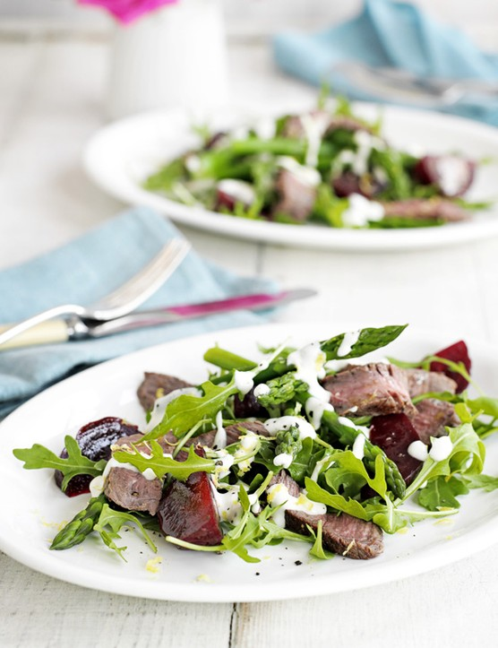 Steak, Beetroot and Asparagus Salad Recipe