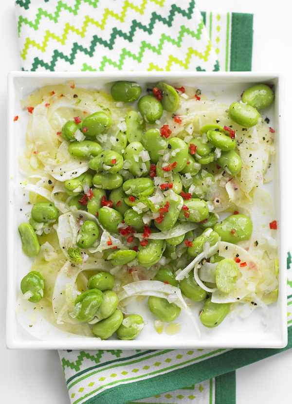 Broad Bean Salad Recipe with Fennel