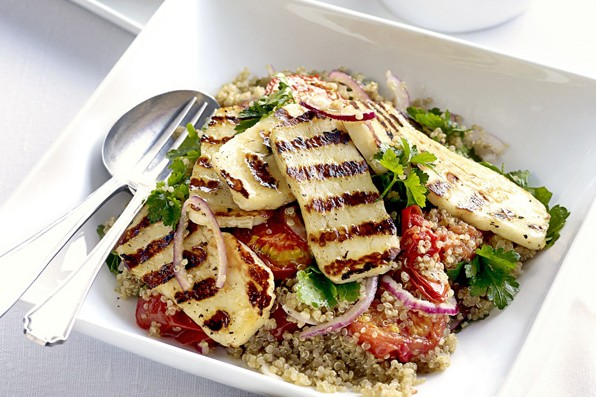 Roasted tomato, halloumi and quinoa salad - best quinoa recipes