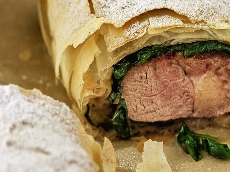 Lamb Neck Cinnamon And Spinach Parcels Recipe Olivemagazine