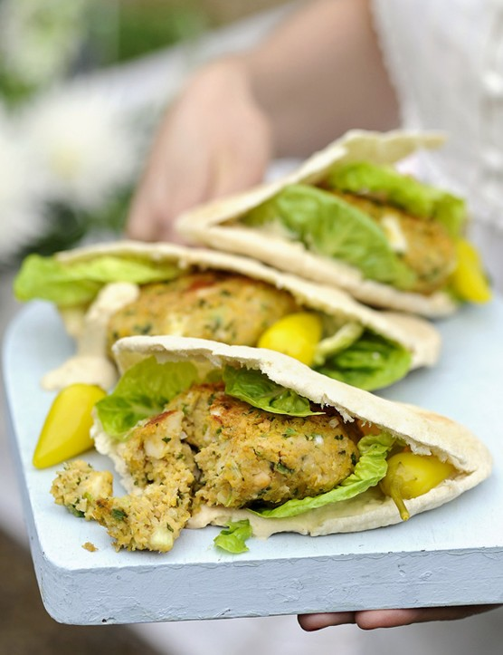 Falafel and Halloumi Veggie Burger Recipe