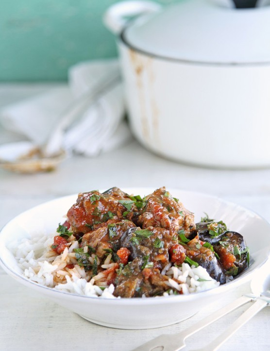 Summer lamb and herb stew