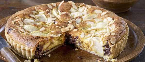 Pear and Chocolate Frangipane Tart Recipe