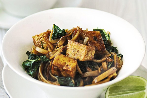 Tofu and winter greens stir-fry