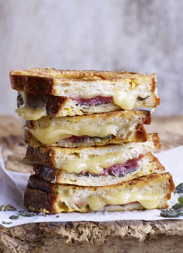 Savoury French Toast Recipe With Fontina, Prosciutto and Sage