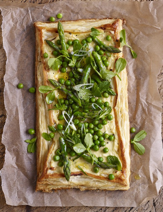 Baked Ricotta Tart Recipe With Spring Veg