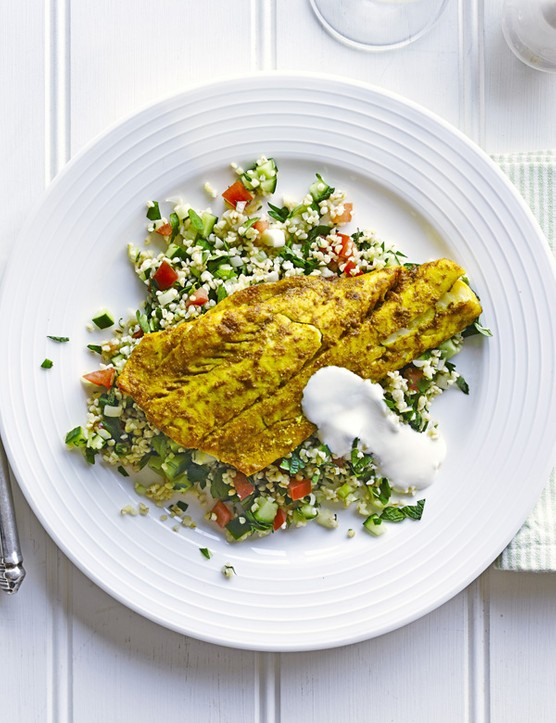 Smoked Haddock Recipe with Tabbouleh Salad