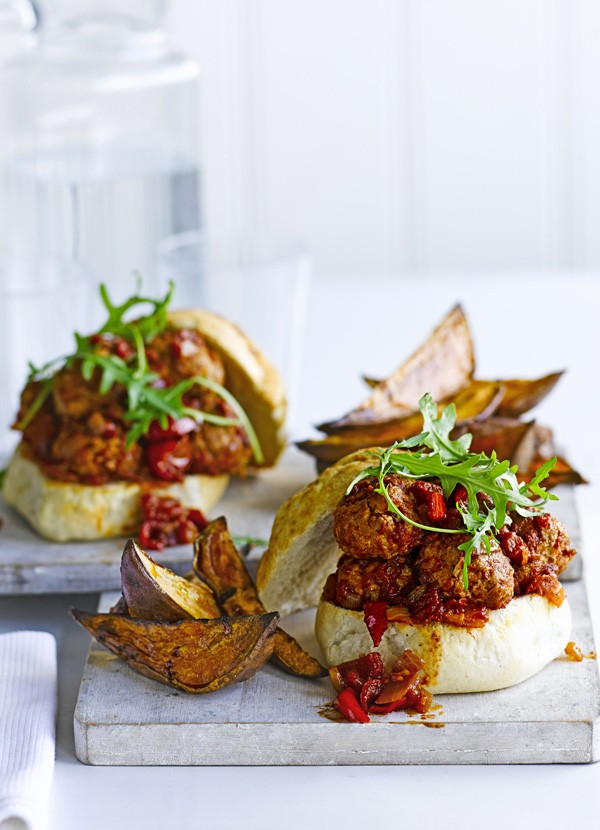 Turkey Meatball Sub Recipe With Wedges