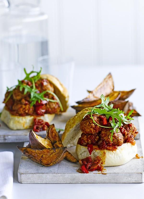 Turkey Meatball Sub Recipe With Wedges