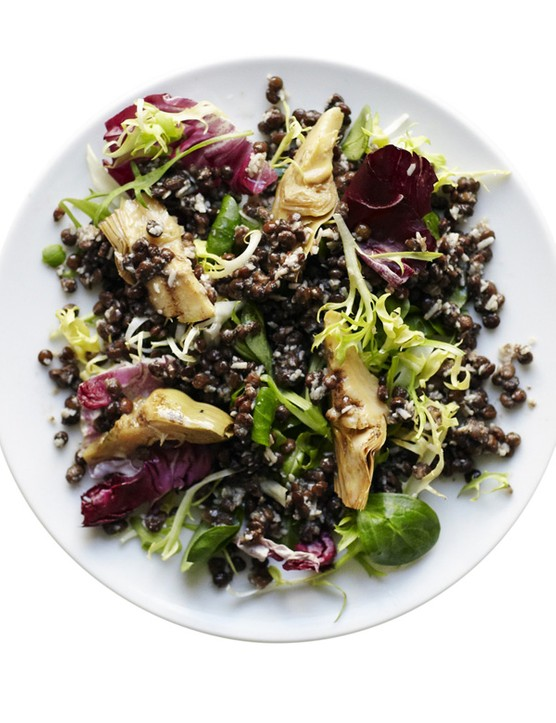 Puy Lentil Salad with Artichoke and Parmesan Dressing Recipe
