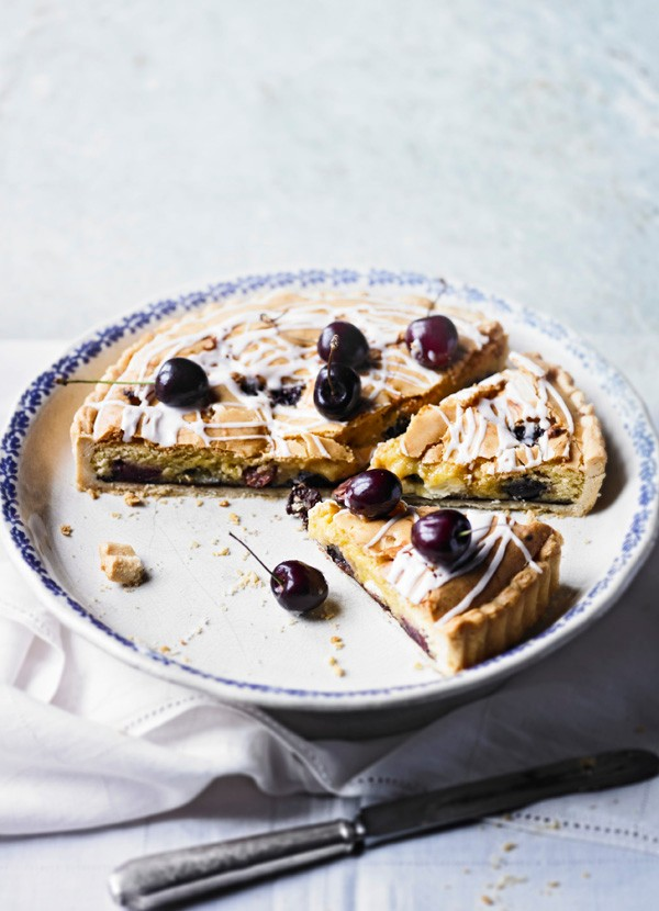 Cherry Blondie Tart Recipe