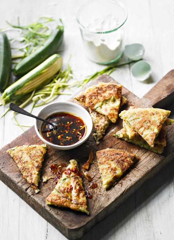 Courgette Korean Pancakes Recipe With Dipping Sauce