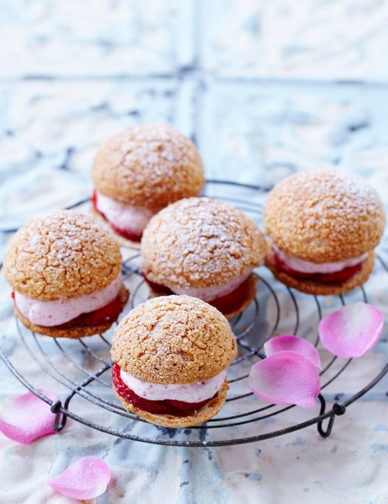 Rose and Almond Choux Buns Recipe