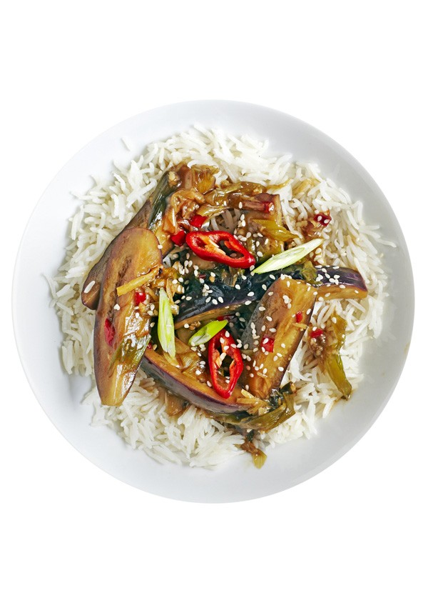 Aubergine Stir Fry With Sesame