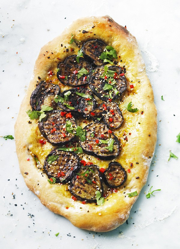 Turkish Pide Recipe for Aubergine Pide