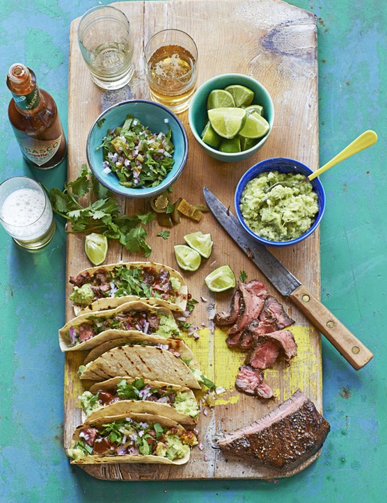 Carne Asada Tacos Recipe with Pickled Jalapeño and Coriander Salsa