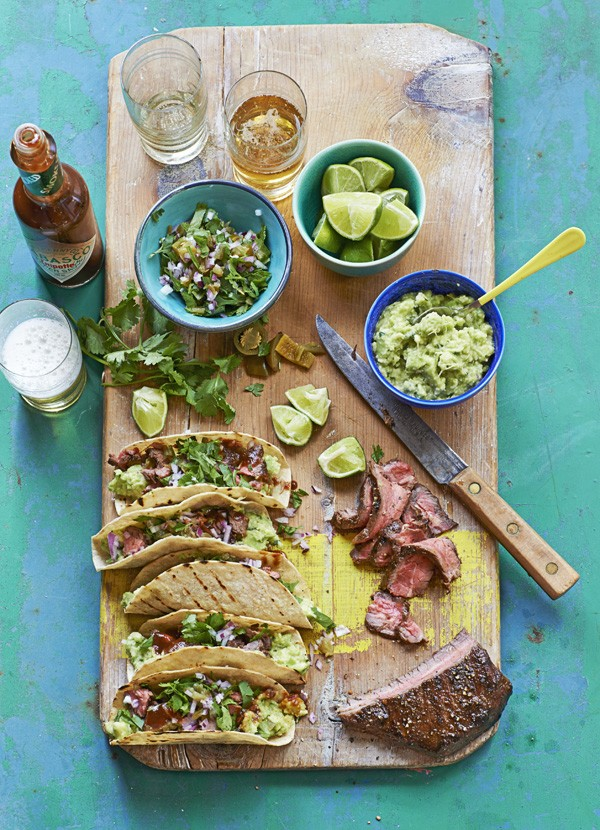 Carne Asada Tacos Recipe with Pickled Jalapeño and Coriander Salsa