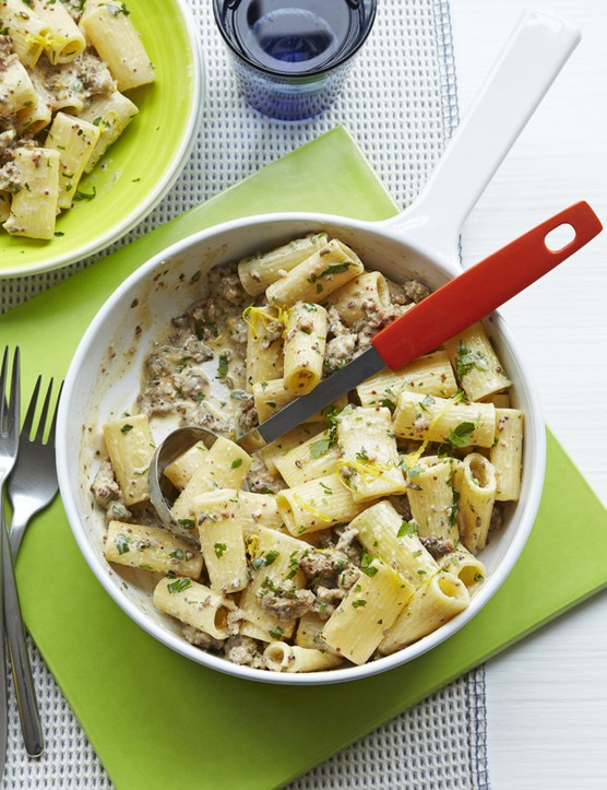Sausage Rigatoni Recipe With Lemon and Mustard