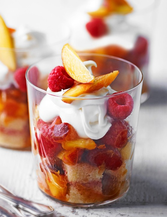 Peach and Raspberry Trifle Recipe