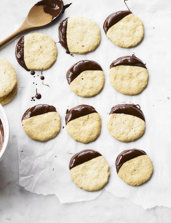 Cobnut and Chocolate Shortbreads Recipe