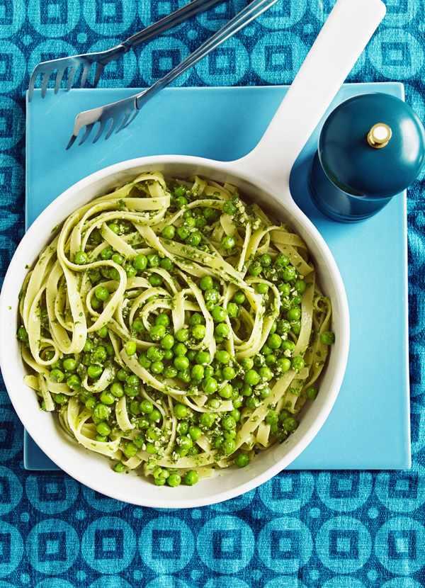 Tagliatelle Recipe With Peas And Pesto
