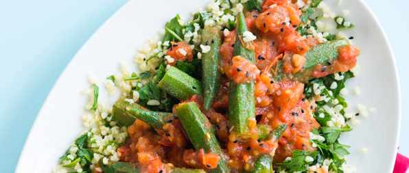 Okra And Tomato Tabbouleh Recipe