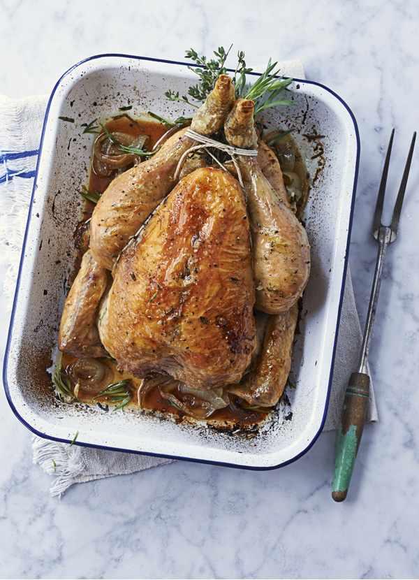 Herb-roast chicken