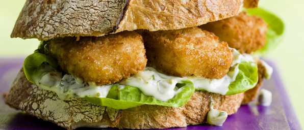 Fish Finger Doorstop Sandwich Recipe