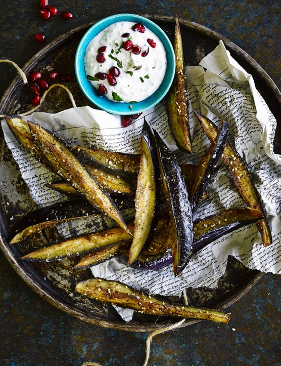 Fried Aubergine Sticks With Sumac and Honey
