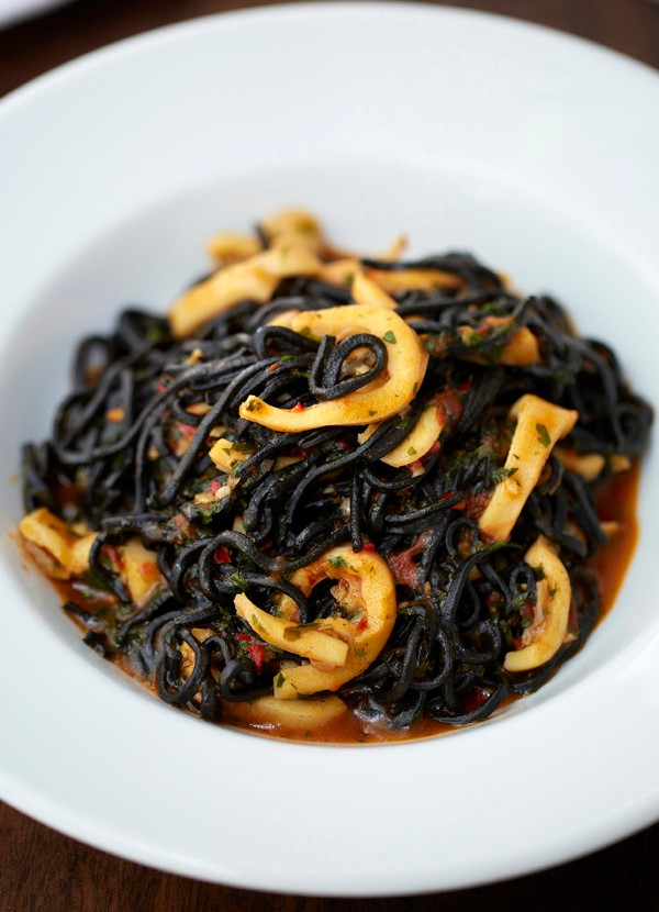 Bibo's tagliarini nero with squid