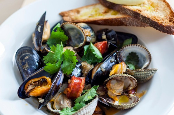 Clams, Mussels and Chorizo Recipe with Fino and Aïoli Recipe
