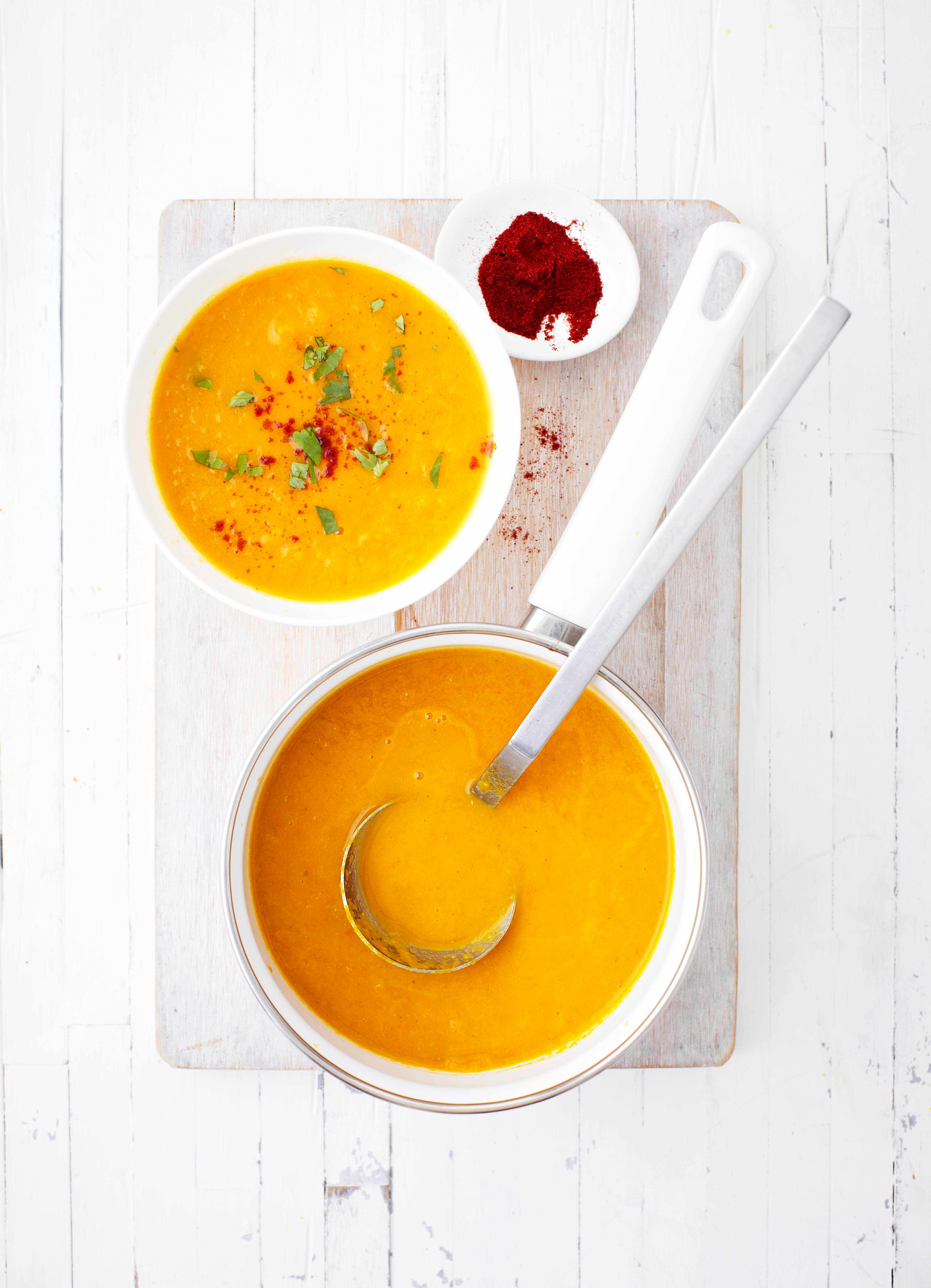 Carrot and smoked paprika soup