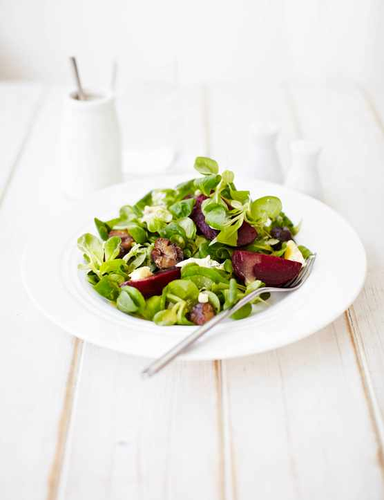 Roasted chestnut and beetroot salad