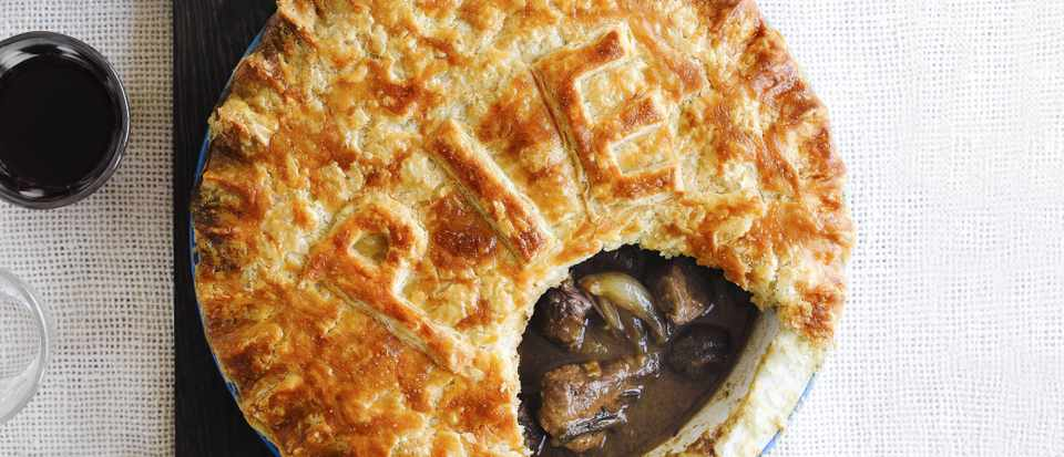 Steak and red wine pie with suet crust - olivemagazine