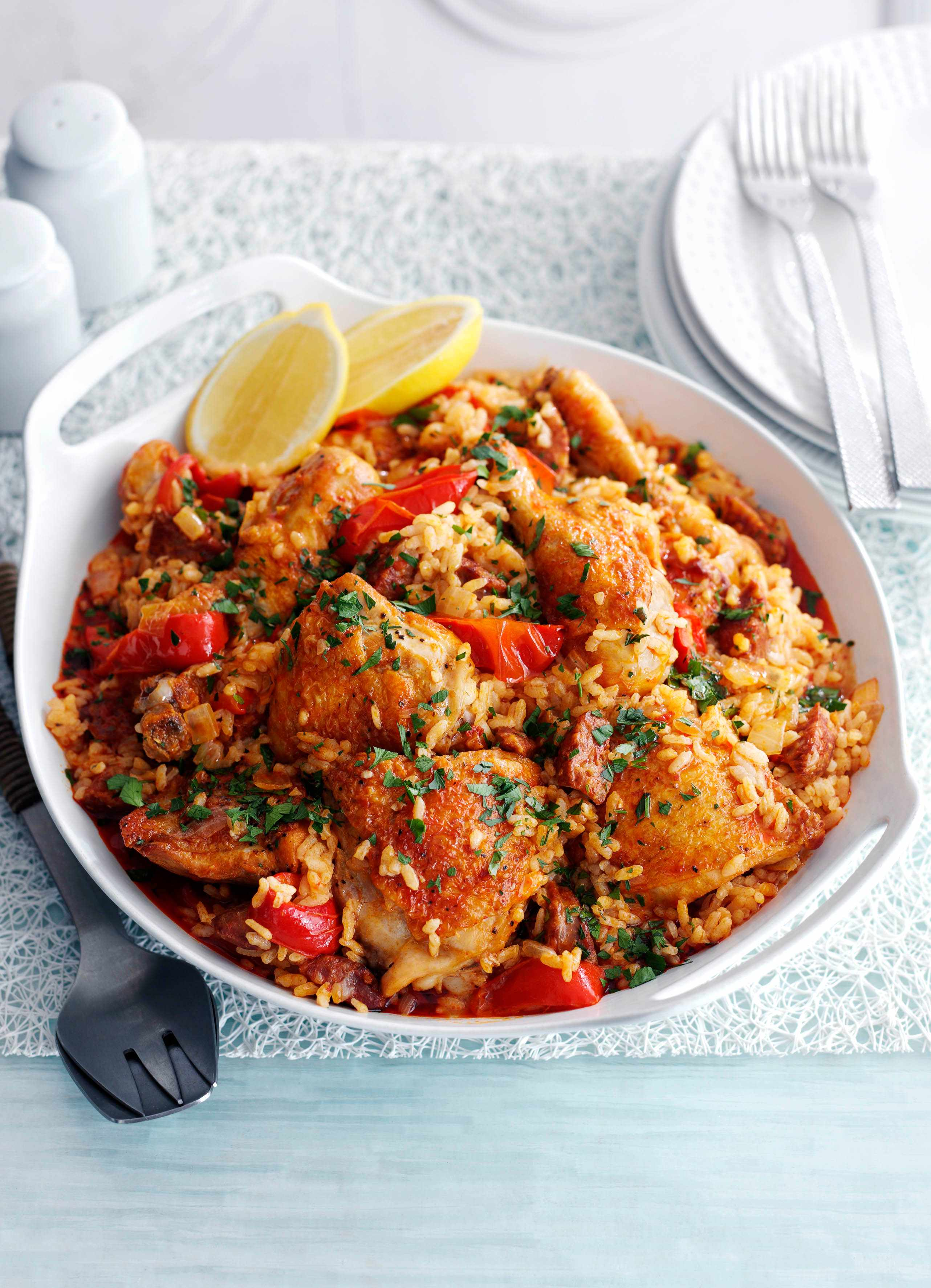 Spanish Rice with Chicken and Chorizo Recipe