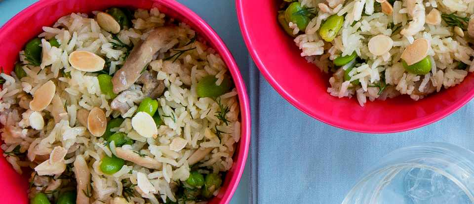 Chicken and Broad Bean Pilaf Recipe