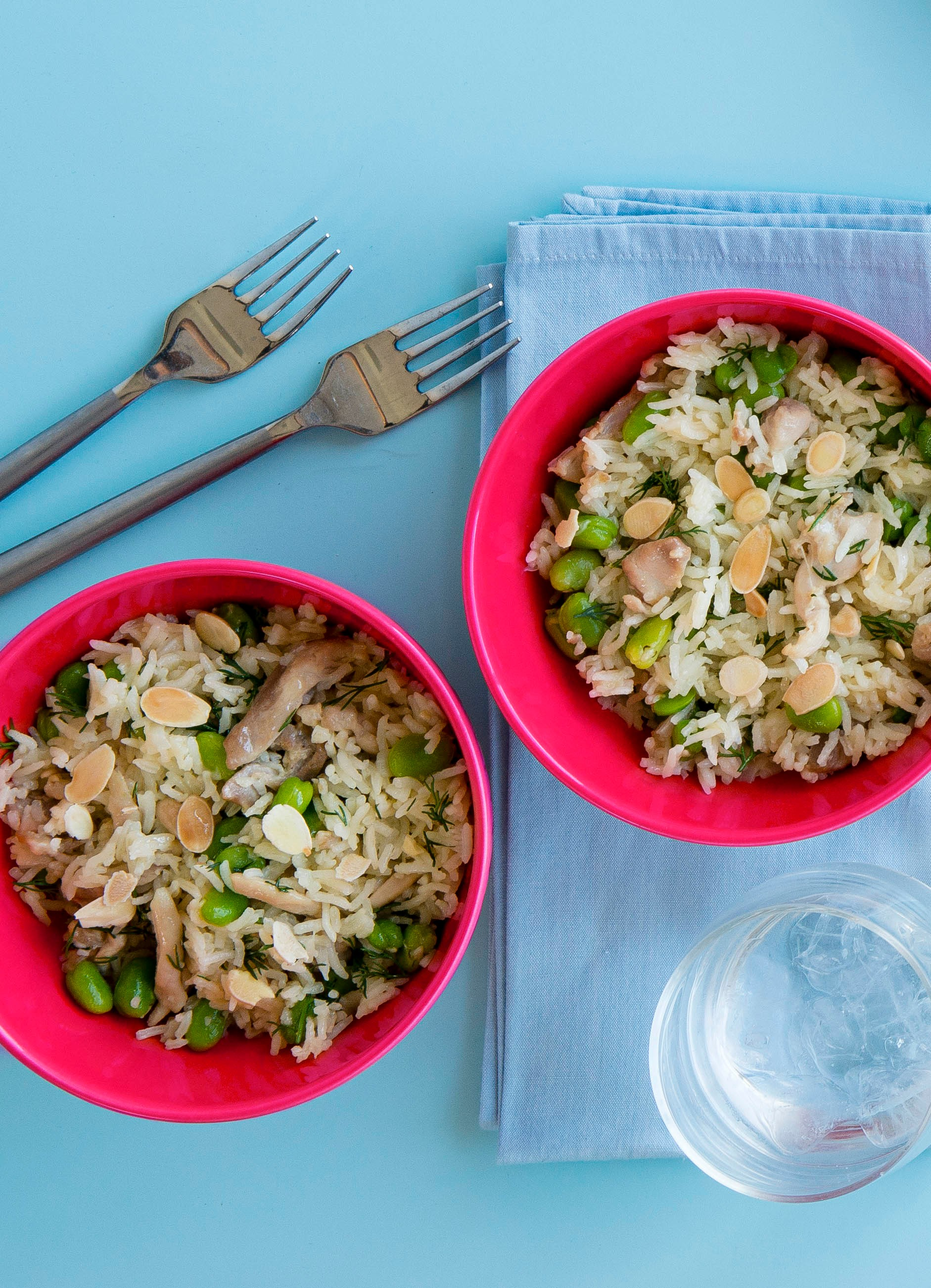 Chicken and broad bean pilaf